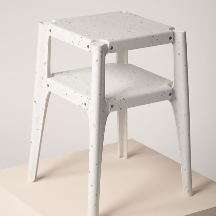 Stacking stools by Alexander Schul. Material: Alba