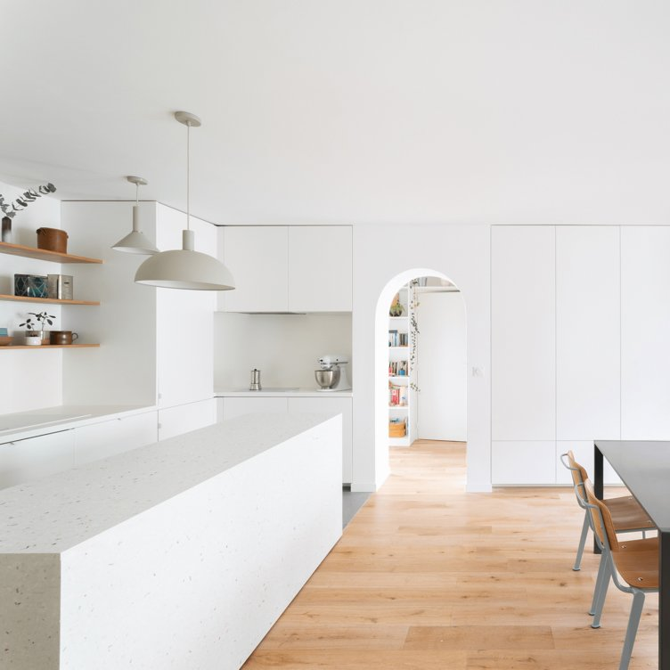 Kitchen by Florian Bérenguer architects. Image by Bazarpoint Studio.