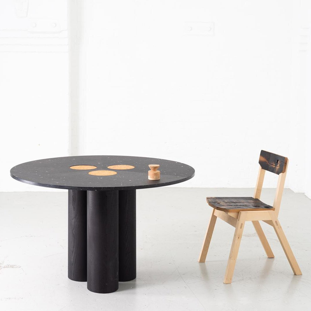 Table at Silo by Nina + Co. Material: Charcoal. Images: Sam Harris.