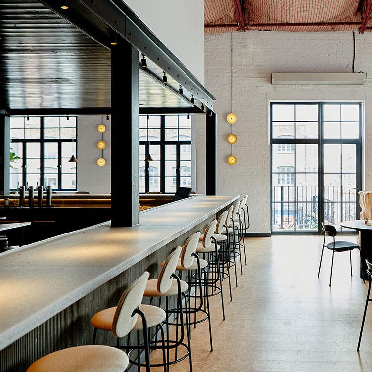 Bar top at Silo. Material: Grey Mist. Images: Sam Harris.