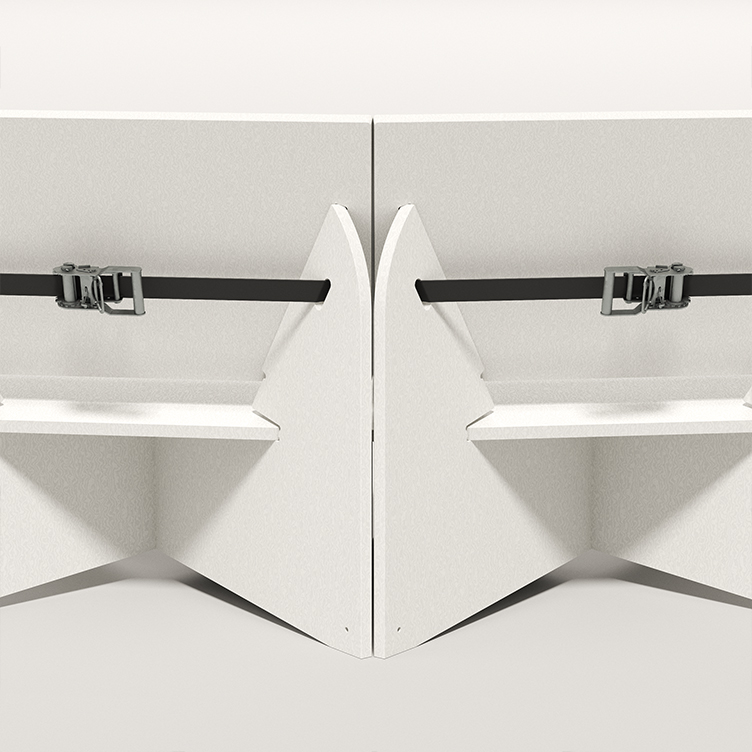 ACAD x Smile Plastics. Paris Design Week 2021. Seating bench in Alba.