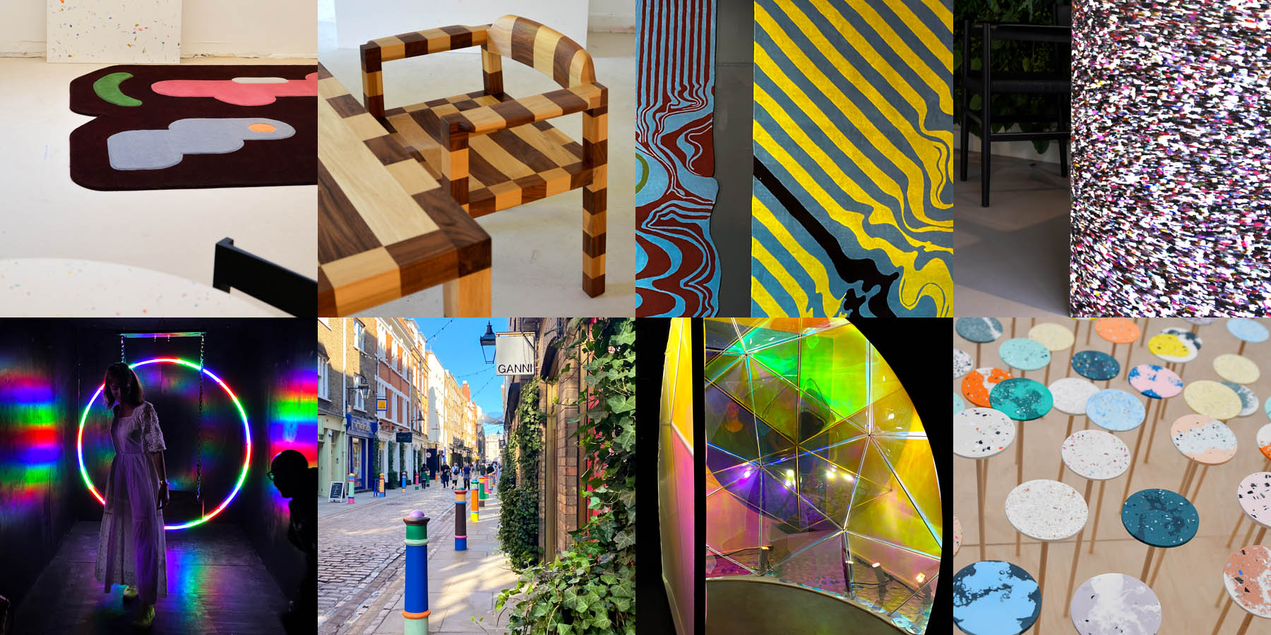 A selection of images from The Future of Home by Local Heroes, London Design 2021, EDGE showroom, Floral Street, London and Planted.